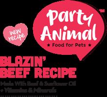 Логотип Party Animal Blazin' Beef Recipe