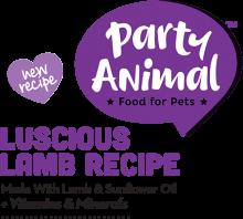 Логотип Party Animal Luscious Lamb Recipe