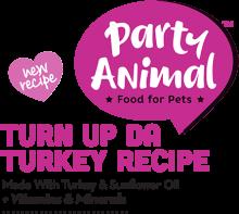 Логотип Party Animal Turn Up Da Turkey Recipe