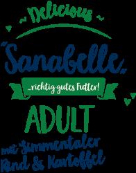 Логотип Sanabelle Delicious Adult mit Simmentaler Rind & Kartoffel