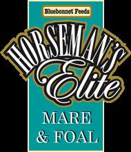 Логотип Bluebonnet Feeds Horseman's Elite Mare & Foal