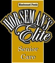 Логотип Bluebonnet Feeds Horseman's Elite Senior Care