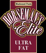 Логотип Bluebonnet Feeds Horseman's Elite Ultra Fat
