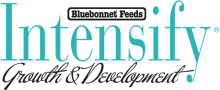 Логотип Bluebonnet Feeds Intensify Growth & Development