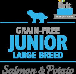 Логотип Brit Care Prevention By Nutrition Grain-Free Junior Large Breed Salmon & Potato